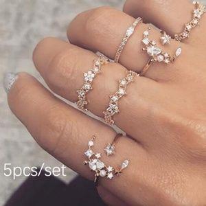 Jewelry - Brand New 5 piece fashion ring set